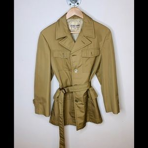Zero King Vtg Wind Water Resistant Trench Jacket .